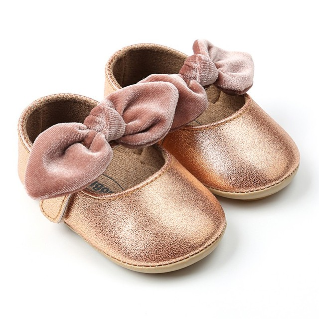 Baby Shoes Bling Newborn Bow Baby Girl Shoes PU First Walkers Bow Fashion Bling Baby Princess Girl Shoes Baby's First Walkers