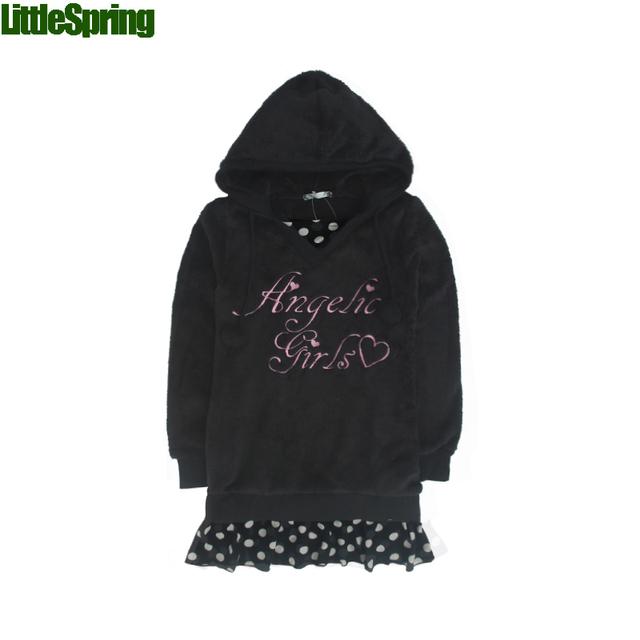 LittleSpring Retail Hoodies de Los Niños! nueva llegada del niño ropa Casual de algodón con capucha de manga Larga suéteres de los niños