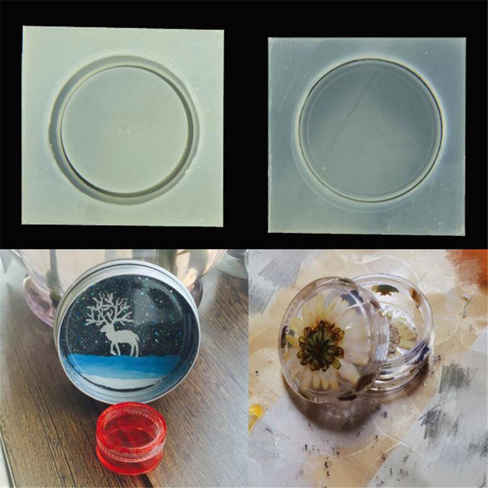 DIY Silicone Storage Box Mold Epoxy Resin Casting Jewelry Mould Craft Tool