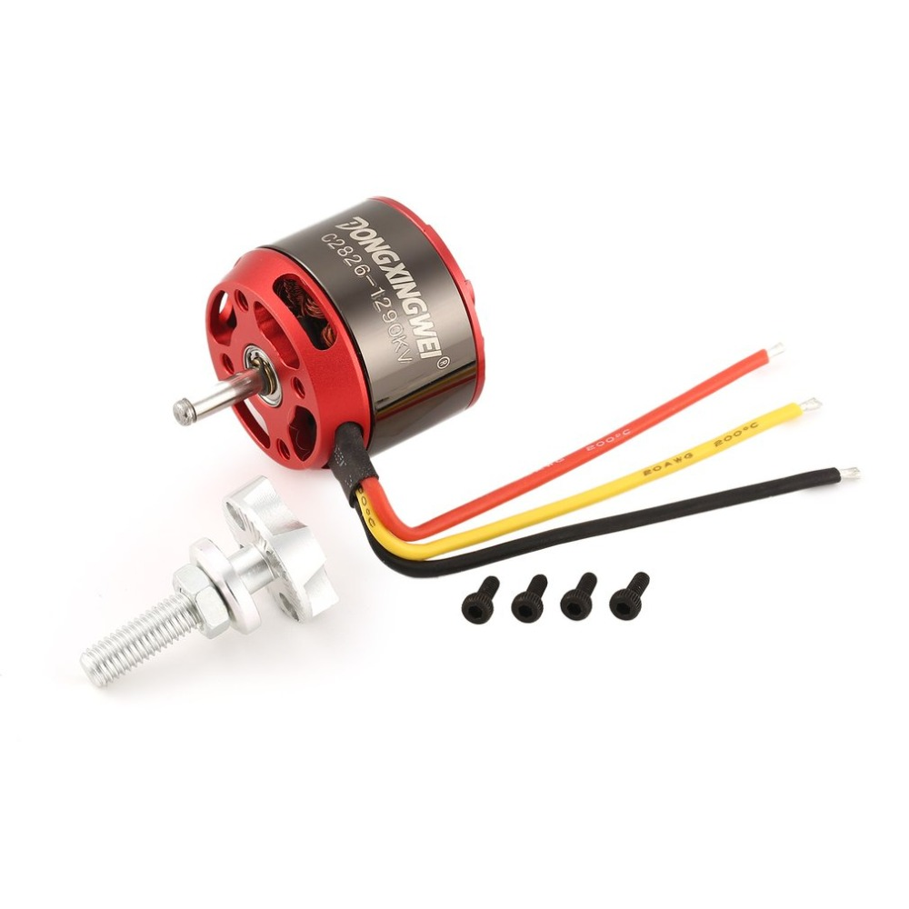 DXW C2826 2826 1290KV 2 4S 5mm Outrunner Brushless Motor for RC FPV Fixed Wing Drone Airplane Aircraft 1290 Propeller|Motor| |  - title=