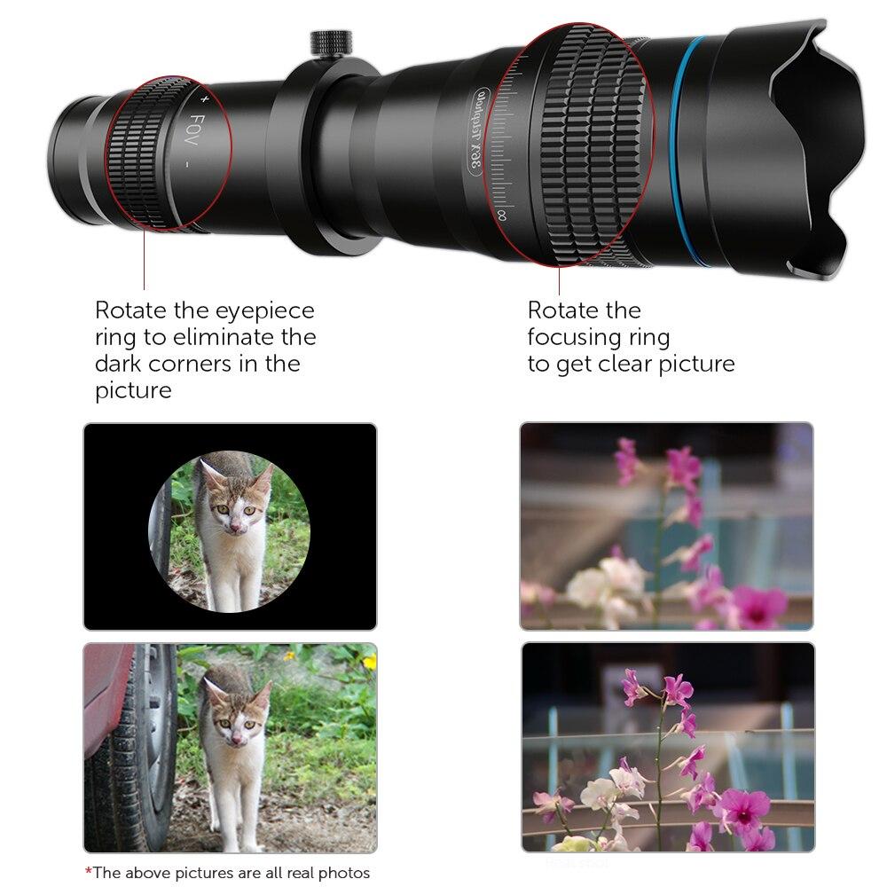 camera APEXEL lens phone