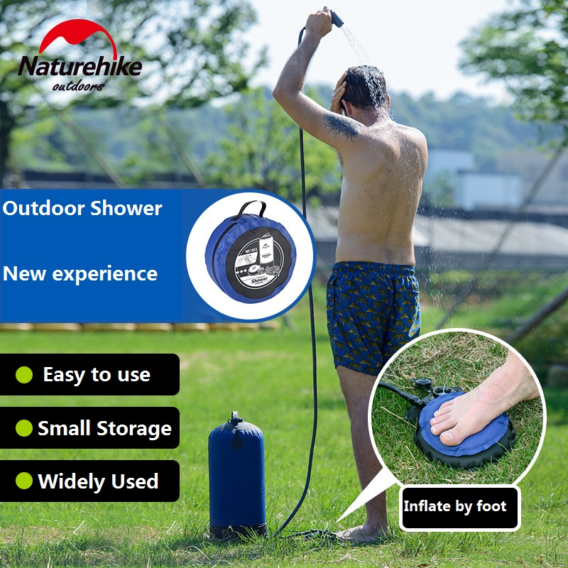 NatureHike Factory Store Outdoor Camping Hiking Shower bag inflatable Portable Folding outdoor shower bag цена 2017