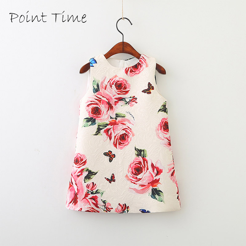 Infant Baby Clothes Short Sleeve Flower Pattern Dress 2018 Summer Girls Baby Clothing Cool Cotton Party Princess Dresses