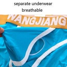 Open Front Sexy Men Underwear Big Penis Hole Mens Briefs Low Waist Wangjiang Und