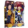 15 polegada Pixar Toy Story 3 Woody Jessie Falando Pvc dos desenhos animados Action Figure Collectible Modelo Toy Boneca para as crianças de natal presente