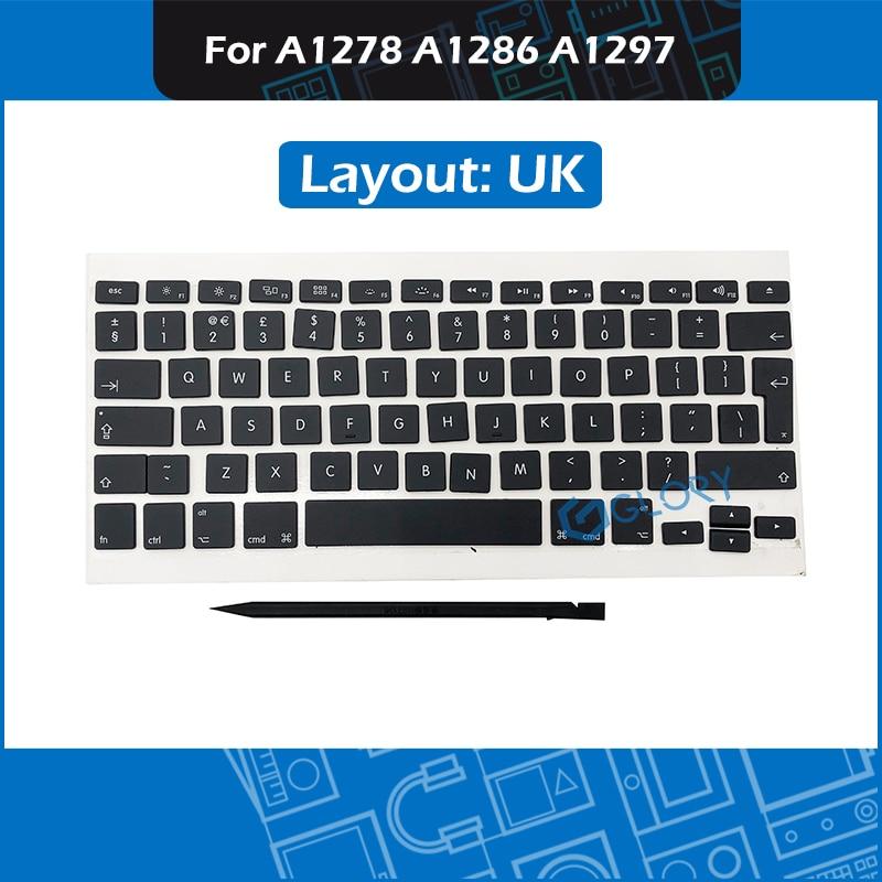 New Keycap set UK Layout AP02 AP04 for font b Macbook b font Pro A1278 A1286