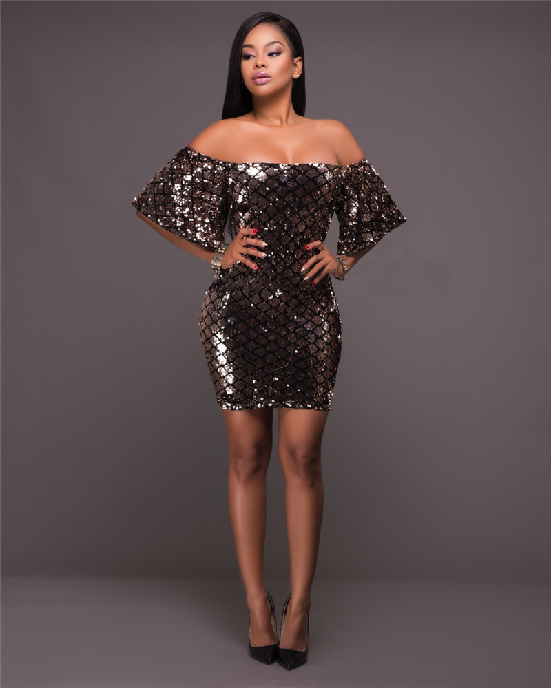 Buy sequin tight dress and get free shipping on AliExpress.com 6b3332cf93b7