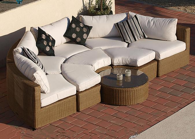 sigma modular seccional muebles de lujo al por mayor al aire libre sofs de mimbre