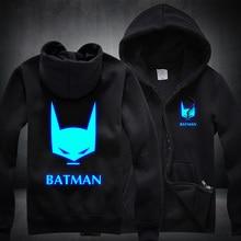 New BATMAN Hoodies Anime Luminous Hooded spring cotton Coats Jackets Men Cardigan Sweatshirts