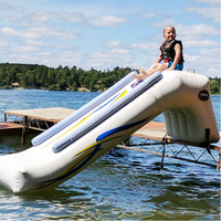 Inflatable water park inflatable water slide sports game with blower