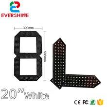 high brightness 12000mcd led display module 7 Segment gas price digital Module 20'' white color led display