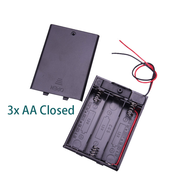 Glyduino 1 2 3 4 6 8x for AA AAA 18650 Connection Battery Compartment Case Lid Sealed and Half Open Battery Holder Box