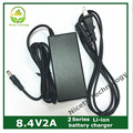 7.2V7.4V8.4v 2a lithium battery charger 2 series  lithium battery pack  charger warranty