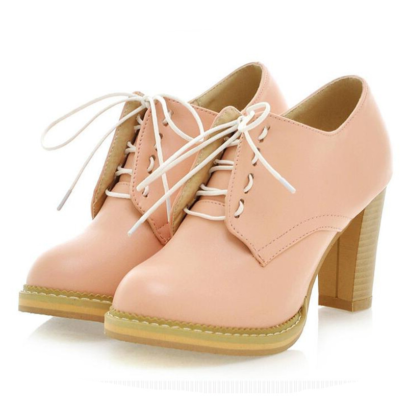 Amazing 2017 Spring Oxfords Shoes For Women Platform Lace Up Creepers Women39s