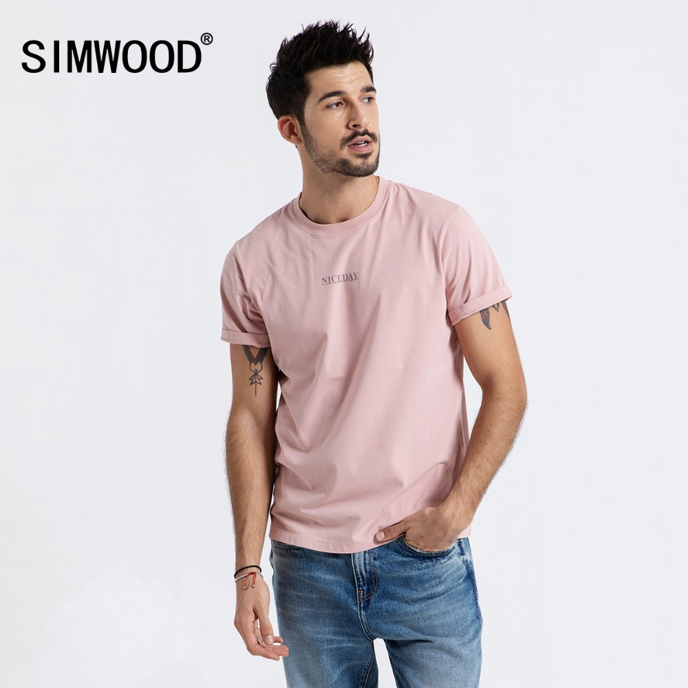 SIMWOOD Brand   T  -  Shirt   Men 2019 Summer New Fashion Printed   t     shirts   O-neck Casual Tee Male Plus Size High Quality Camiseta 190017