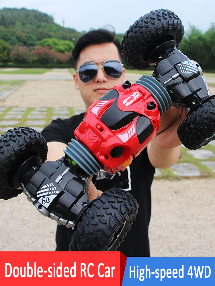 XYCQ1:16 Scale Double-sided 2.4GHz RC Car One Key Transform All-terrain Off-Road Vehicle Varanid Climbing Truck Remote Control T