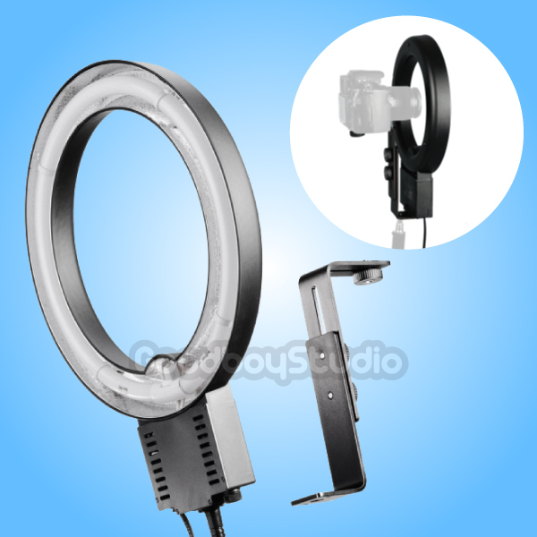 Pro 40W 5400K Fluorescent Day Light Studio Ring Lamp with Camera Bracket 110V 120V цена и фото