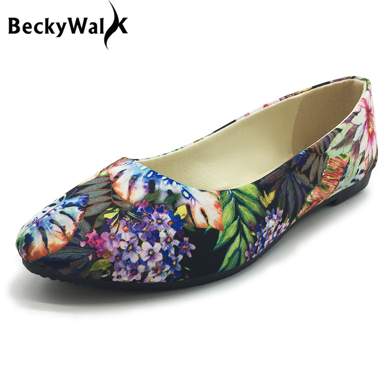 Women Shoes Women Slip On Flat Shoes for Woman Cloth Flats Casual Loafers Plus Size Flowers Single Shoes sapato feminino WSH2348 slip-on shoe