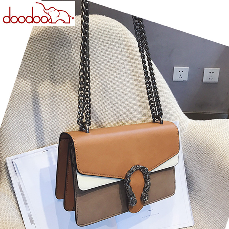 Luxury Brand Fashion Chain Women Casual Shoulder Bag Messenger Bags Hit Color Female Big Bag\Handbag Ladies Flap Motorcycle Bags