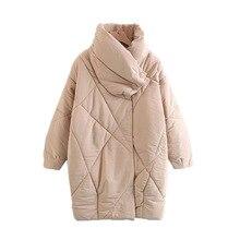 2018 European style Winter Jacket wind zipper cotton padded clothesWomen's Down Jacket Cocoon type warm Coat Female Clothing