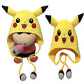 Fashion Cute Pokemon Pikachu Cosplay Plush Toy Cap Warm Beanie Costume Hat Yellow Hat Gift