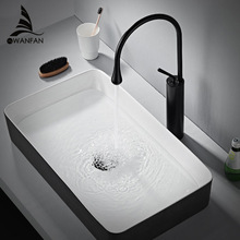 Basin Faucets Modern White Bathroom Faucet Waterfall faucets Single Hole Cold and Hot Water Tap Basin Faucet Mixer Taps 88096