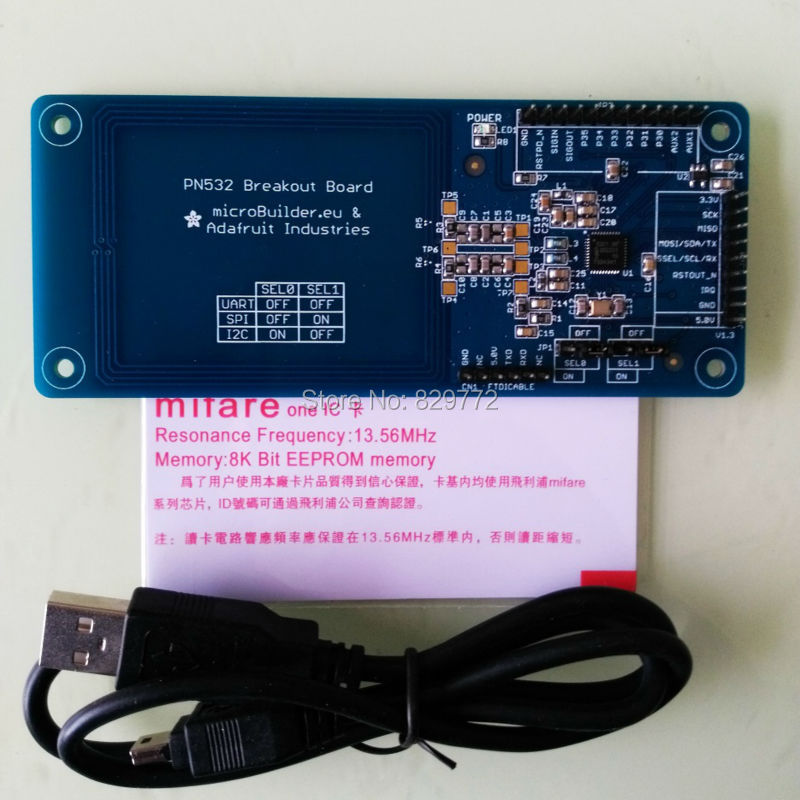 US $25 0 |PN532 breakout NFC RFID Mifare card reader and writer adafruit  Demo Board develop suit Kits support Arduino Android system-in Demo Board