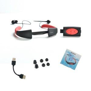 Image 2 - 100% مقاوم للماء 8 GB/4 GB MP3 الموسيقى مشغل الوسائط تحت الماء الرقبة السباحة الرياضة مشغل mp3 مع راديو FM مقاوم للماء سماعة