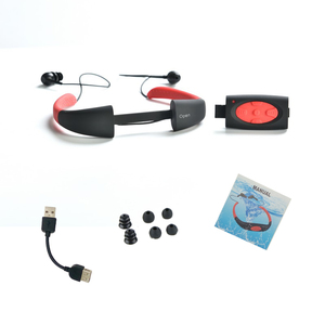 Image 2 - 100% Waterproof 8GB/4GB MP3 Music Media Player Underwater Neckband Swimming Sport mp3 player with FM Radio Waterproof Earphone