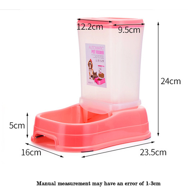 Petshy Pet Automatic Feeder Dog Cat Food Bowl Removable Plastic Kitten Puppy Feeding Dish Dispensers For Small Medium Cats Dogs 1