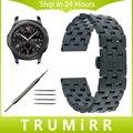 22mm pulseira de aço inoxidável borboleta fivela faixa de relógio cinta para samsung gear s3 clássico fronteira links removível pulseira