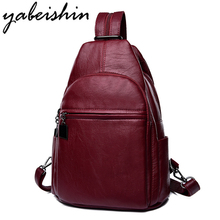 Women Leather Backpacks Classic 3-in-1 Female Shoulder Bag Sac a Dos Travel Ladies Bagpack Mochilas School Bags For Girls Preppy