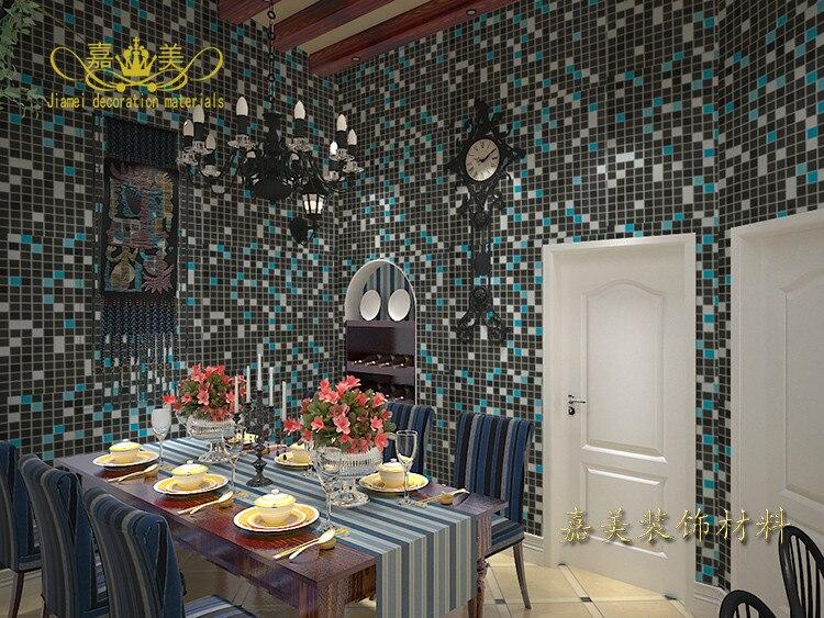 Thick PVC Mosaic Self Adhesive Wallpaper Kitchen Waterproof Oil   Waterproof  Wallpaper For Bathrooms
