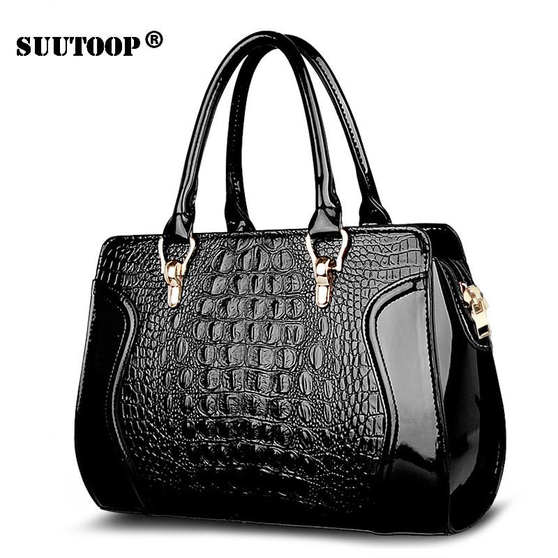 Crocodile Women Handbag PU Leather over Shoulder Lady Bag Luxury Designer Female Crossbody Messenger totes for feminina 2019 New messenger bag