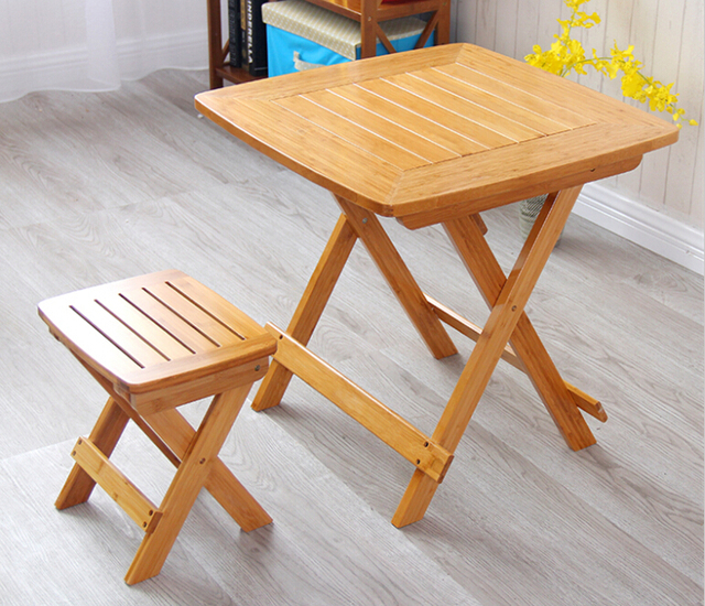 Modern Dining Table Legs Foldable Bamboo Furniture Outdoor/Indoor Garden Table Portable Tall Camping Folding Table Bamboo Wood