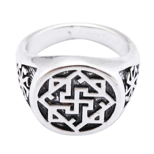 Dawapara Slavic Kolovrat Valkyrie Viking Gothic Ring Female Mens