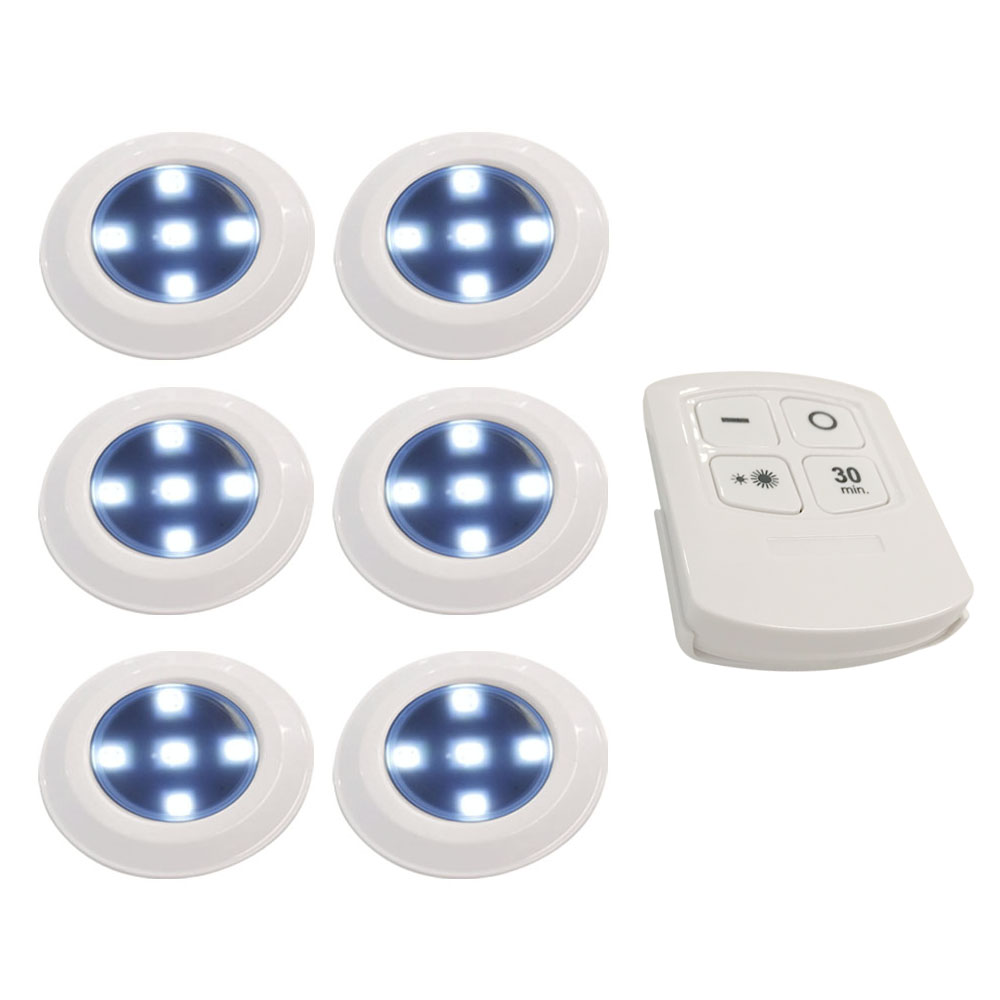 Night Light Led Remote Control 5 LED Cabinet Light Wireless Spot Light Stick-On Anywhere Tap Night Lamps Battery Not Included