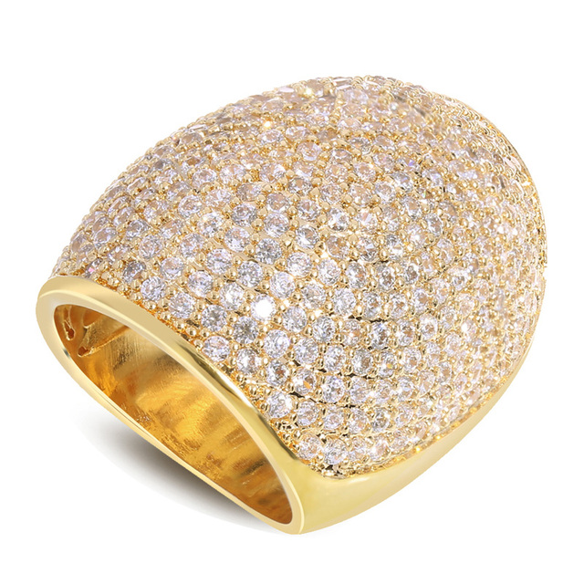 Latest Fashion Women Rings Luxury Wedding Accessories Gift Top Quality Setting Clear CZ Stone  Rhodium / Gold Plated