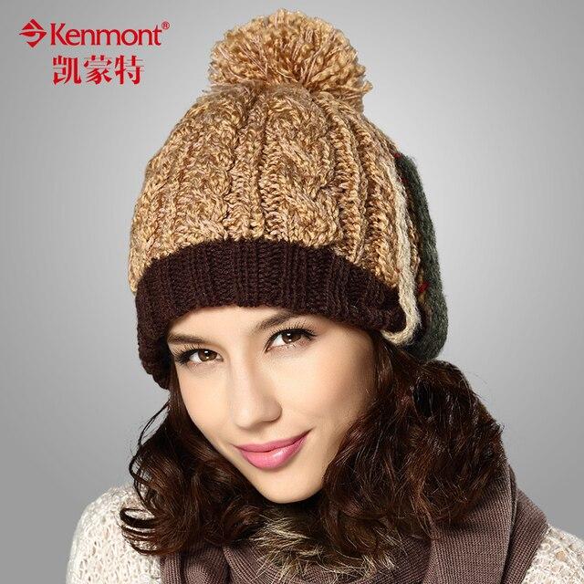 3b8f76f6792 Winter Hats Caps Women Girls Ladies Light Tan Of Wool Acrylic For Christmas  Gift KM-1617