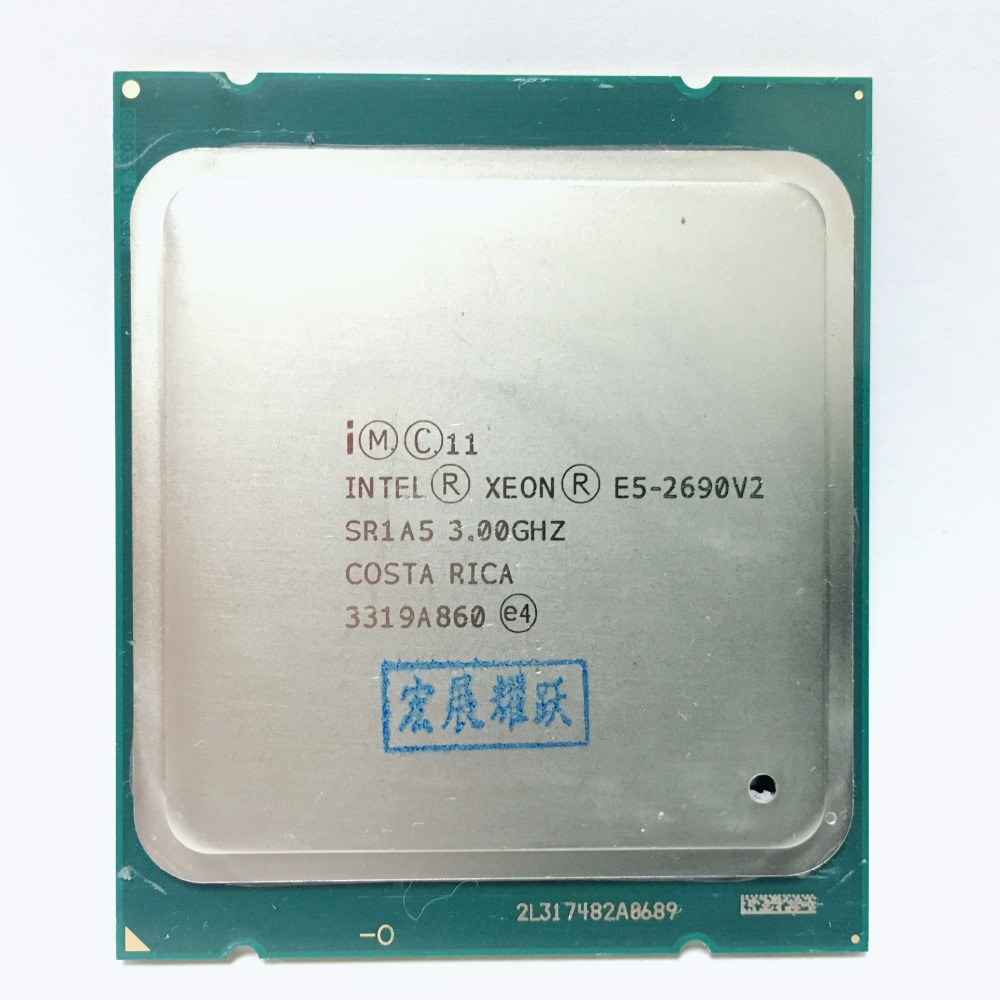 Processador Intel Xeon E5 2690 V2 e5-2690 CPU 3.0G LGA2011 Dez Núcleos de processador de Servidor V2 E5-2690V2 edição formais