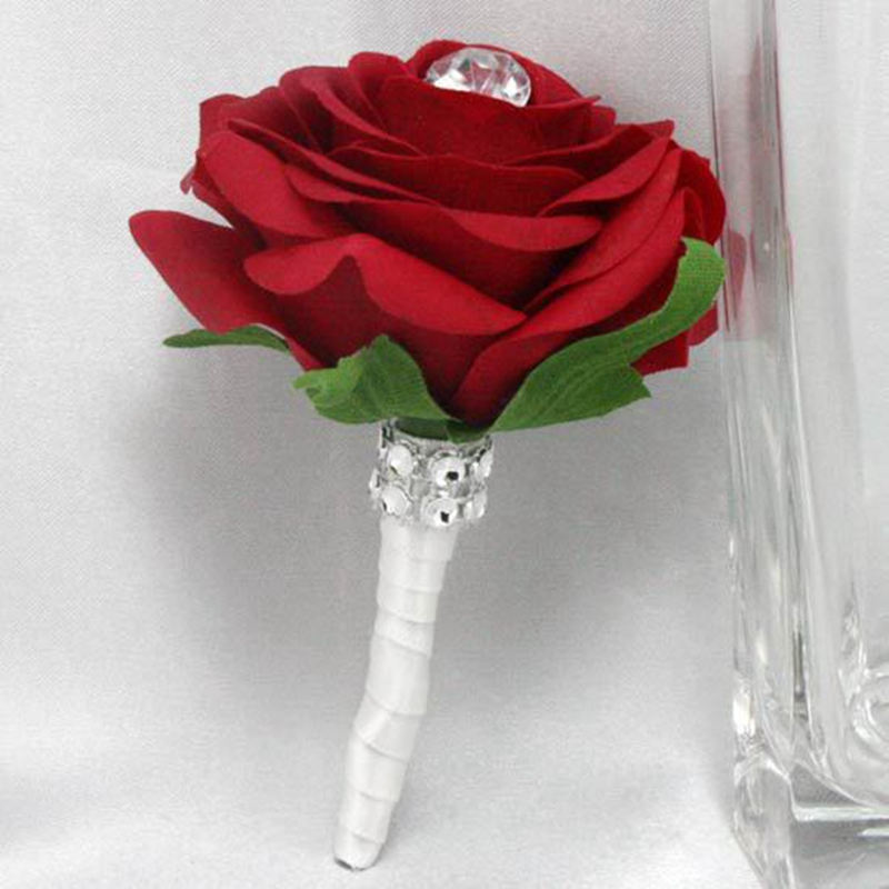 Free Shipping Handmade Colorful Real Touch Artificial Rose Wedding ...