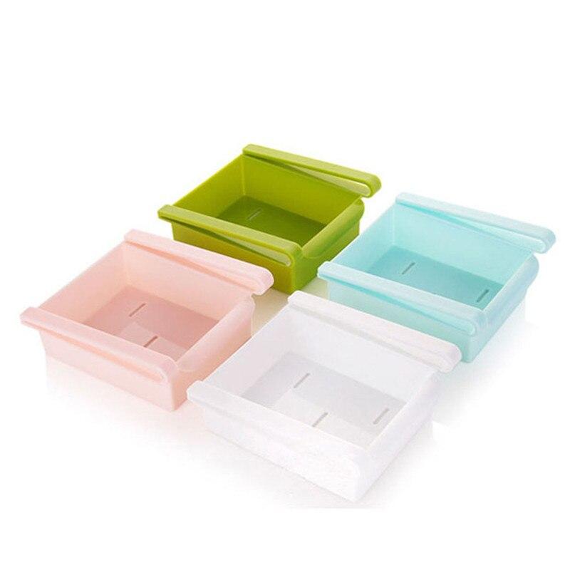 Economic refrigerator storage box fresh spacer layer storage rack creative kitchen supplies twitch type drawer 2