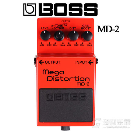 Boss Audio MD-2 Mega Distortion Pedal for Guitar boss audio fv 50h high impedance volume pedal