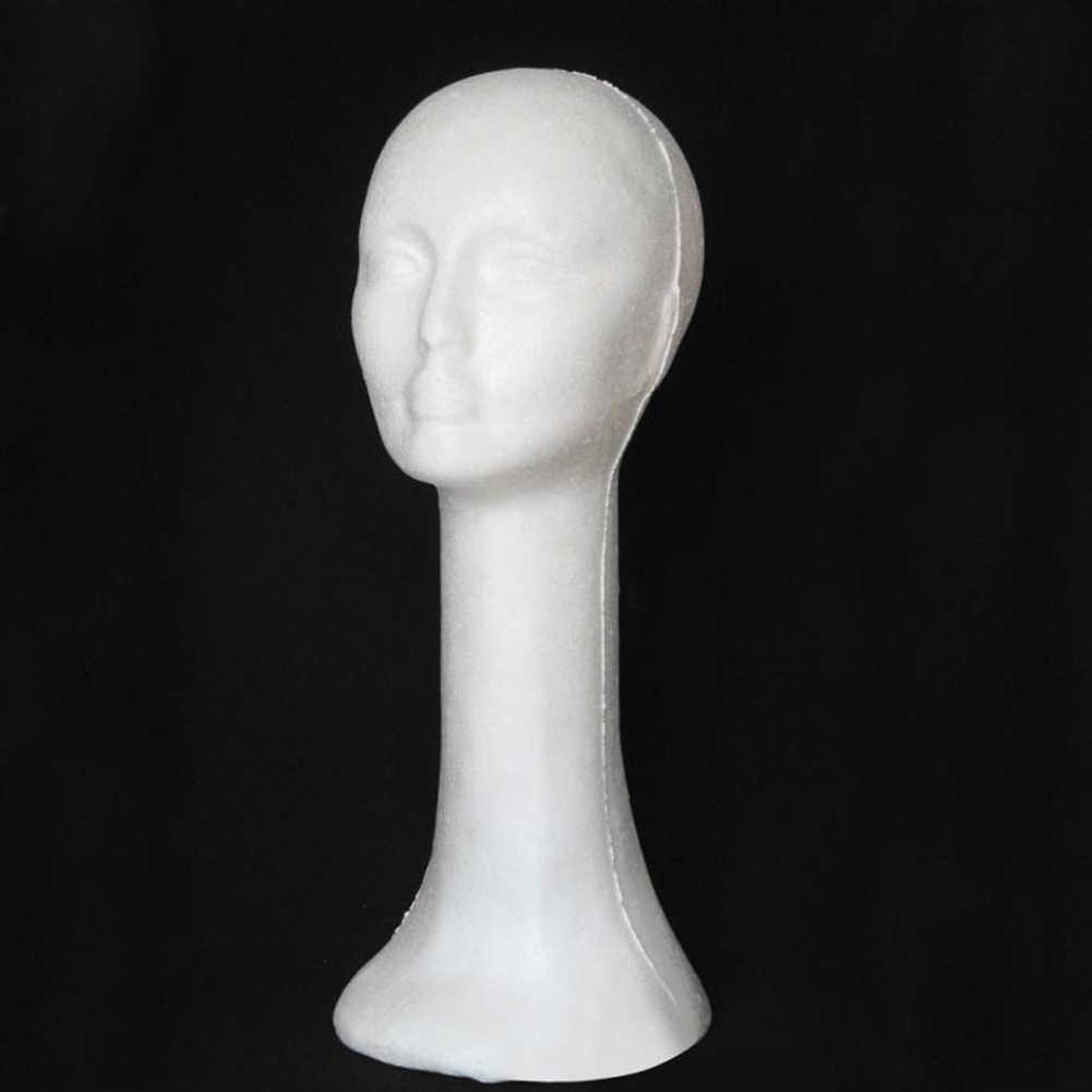 55*46 см пена женская голова человека Длинный манекен шеи парик в шляпе и очках дисплей Статуэтка