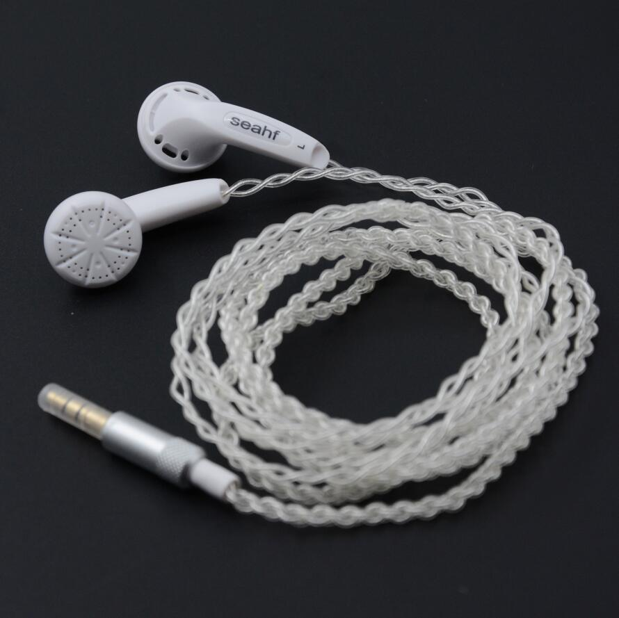 Seahf AWK-F400S High Impedance In Ear Earphone Earbud 400 ohms Flat Head Plug Hifi Music Earphone Fone De Ouvido PK VE Monk