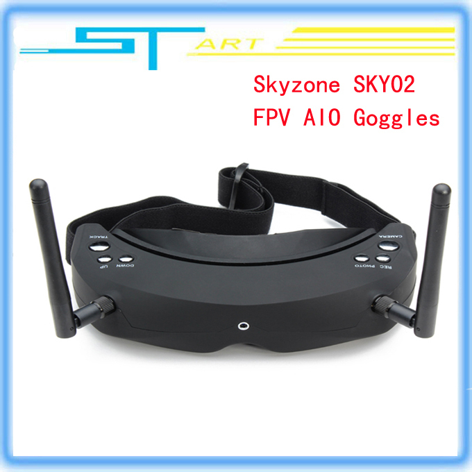 Skyzone SKY02 5.8G 32CH AIO 3D FPV Goggles Headset Video Glasses Built-in 3D/2D mode Diversity receiver head tracking and camera skyzone sky01 fpv video goggles w 5 8ghz dual diversity 32 ch receiver black