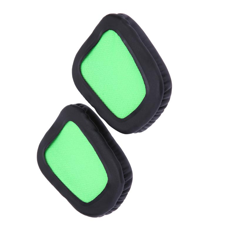 Black green Replacement Ear Pads Cushion for Razer Electra Gaming Pc Music Headphones Big Earphone Accessories
