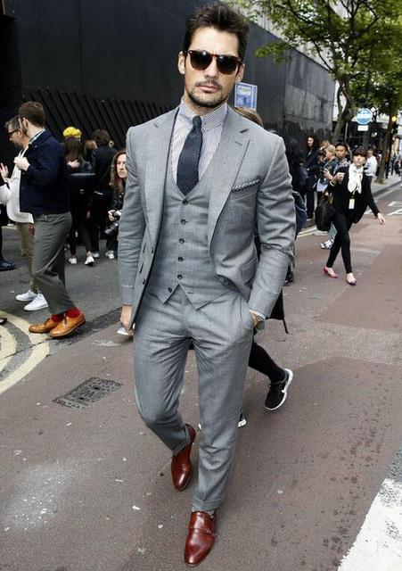 Aliexpress.com : Buy New Design Custom Made Grey Groomsman Wedding ...