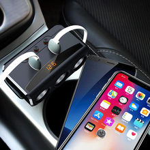 3 Way Auto Car Cigarette Lighter Socket Splitter Charger 3.1A Dual USB Car Charger Power Adapter for iPhone Samsung Xiaomi GPS(China)