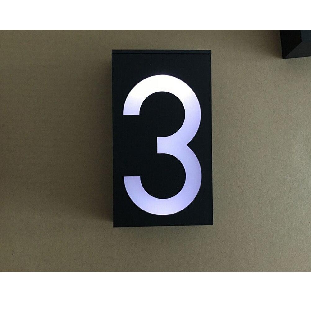 safety solar doorplate number outdoor lighting billboard. Black Bedroom Furniture Sets. Home Design Ideas